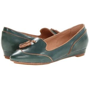 Miz Mooz Proust Forest green leather tassel loafer